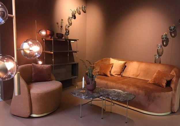 Table basse et fauteuil pivotant Bolia