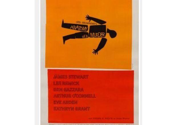 Affiche de Film Vintage Anatomy of a Murder par Saul Bass, Etats Unis, 1959