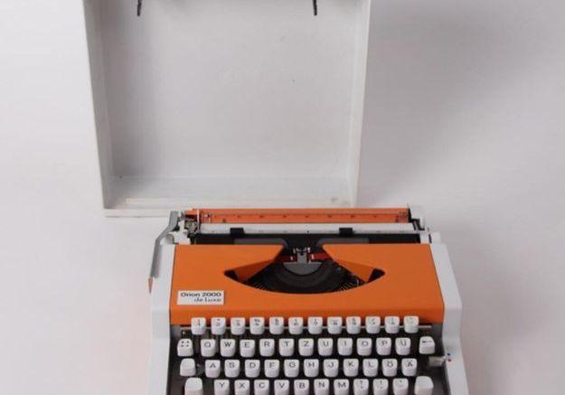 Machine à Écrire de Voyage par Alfons Boothby & Georges Joseph pour Olympia, 1960s