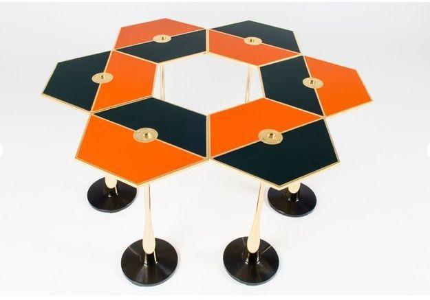 Table Basse Perspectiva Orange par Fedele Papagni pour Fragile Edizion