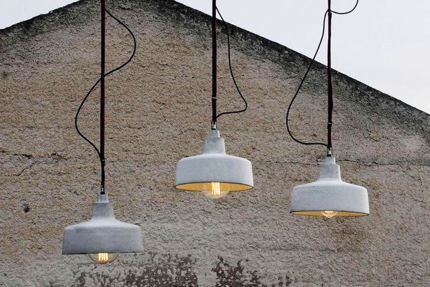 Lampe à Suspension Concrete Pendant Light par Noam Dover & Michal Cederbaum