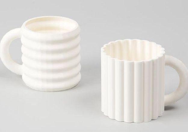 Tasses à Espresso Ripple par Bilge Nur Saltik pour Form&Seek, Set de 2