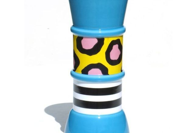 Vase Memphis Carrot par Nathalie du Pasquier pour Sarri, 1985