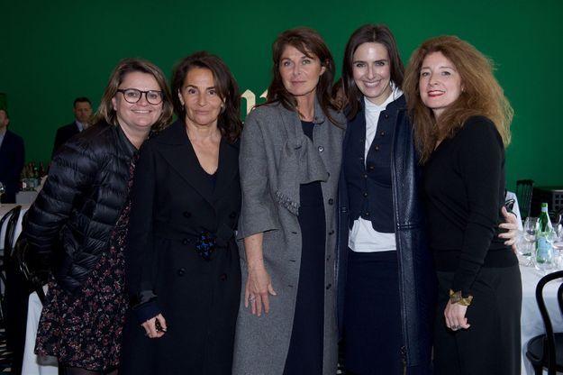Anne-Sophie Lefèvre, Constance Benqué (ELLE Décoration), Caroline Pois (ELLE Décoration), Anne Schuhmacher (Christian Liaigre) et Delphine Minor...