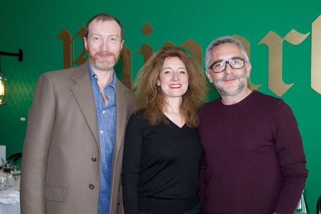 Christophe Delcourt, Delphine Minor (ELLE Décoration) et Guillaume Petit (Made in Design)