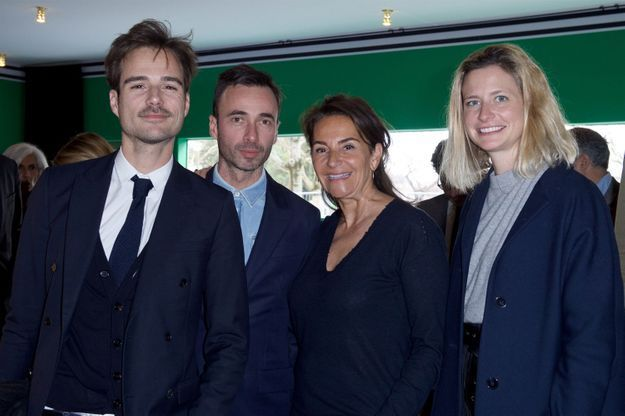 Julien Charles (Louis Vuitton), Edouard Schneider (Louis Vuitton), Constance Benqué (ELLE Décoration) et Caroline Bellemare (Louis Vuitton)
