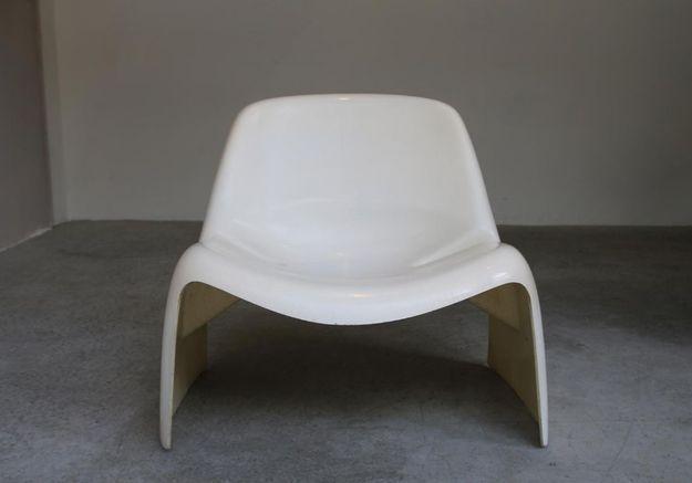 Fauteuils Blancs par Luigi Colani pour Essmann, Italie, 1967, Set de 2