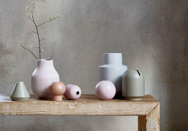 Des vases pastel