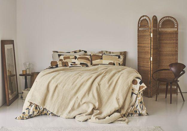 La chambre aux accents naturels chez Zara home