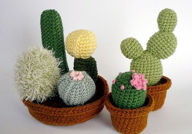 Cactus en crochet LunasCrafts, Etsy