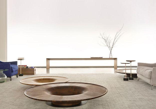 Des tables basses organiques en bois