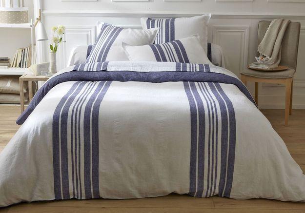 Linge de lit en lin lavé, Becquet