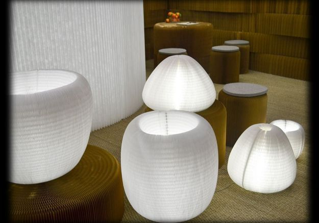 Lampes en papier Molo