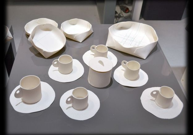 Tasse et corbeille en porcelaine Fanny Laugier