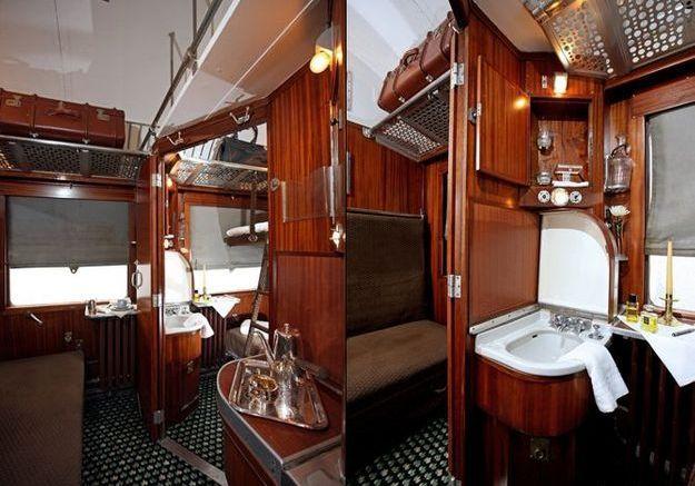La voiture-lit de l'Orient Express