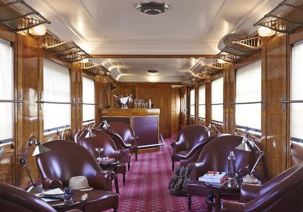 Le salon Côte d'Azur de l'Orient Express