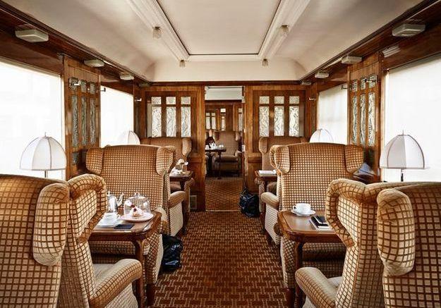 Le salon Pullman Flèche d'or de l'Orient Express