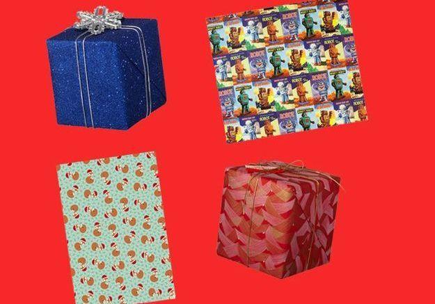 De beaux papiers cadeaux pour Noël