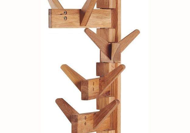Patère design en bois