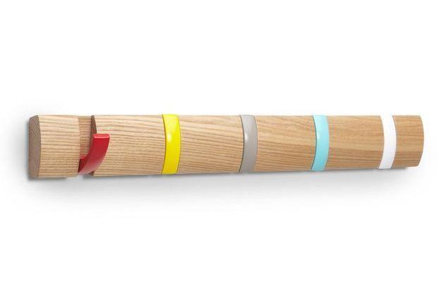 Patère design multicolore