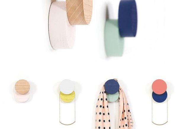 Patères design bicolores