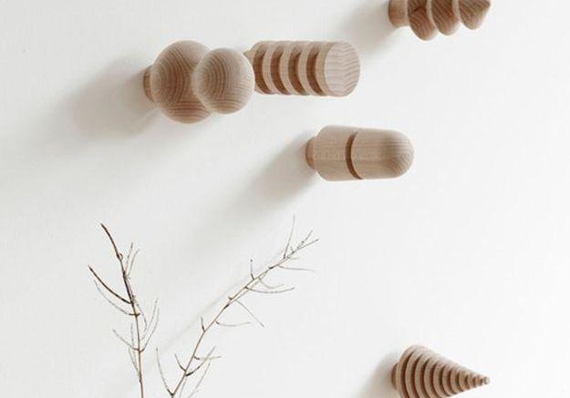 Patères design en bois