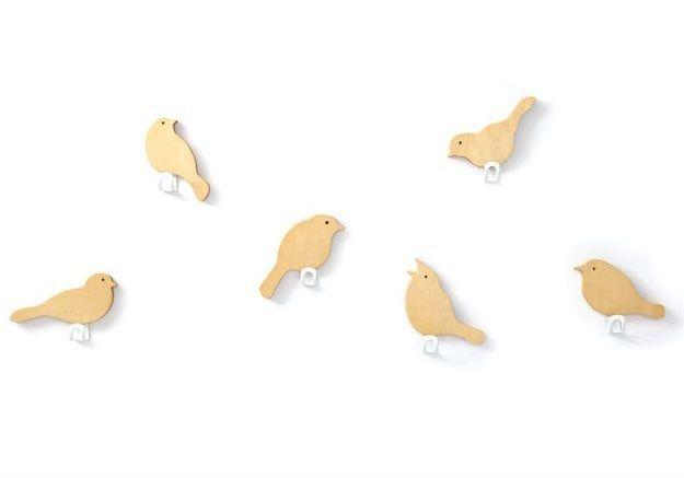 Patères design en forme d'oiseaux