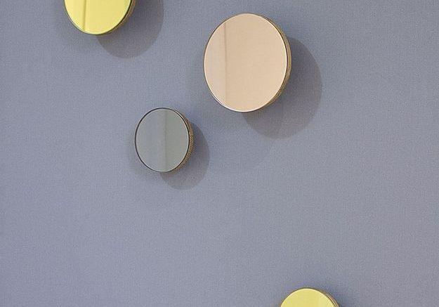 Patères design en miroir