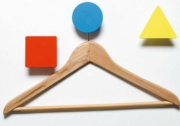 Patères design géométriques