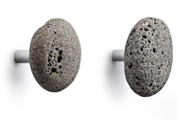 Patères design imitation pierre