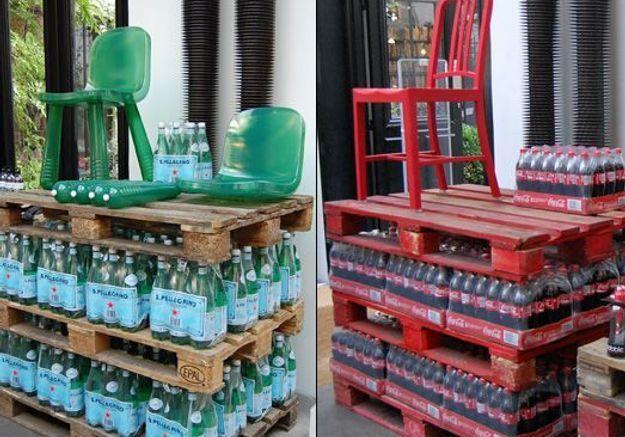 Chaises bouteilles