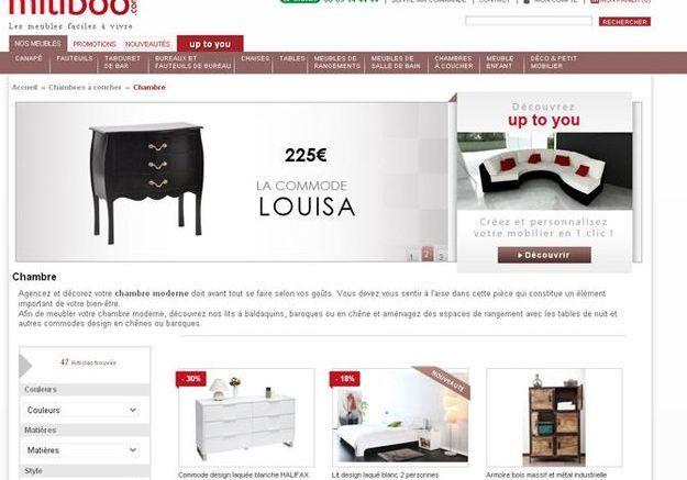 Pour les fans de meubles design : miliboo.com