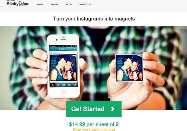 Pour les inconditionnels d'Instagram : stickygram.com