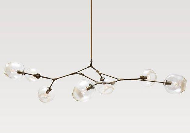 Une suspension de globes de verre