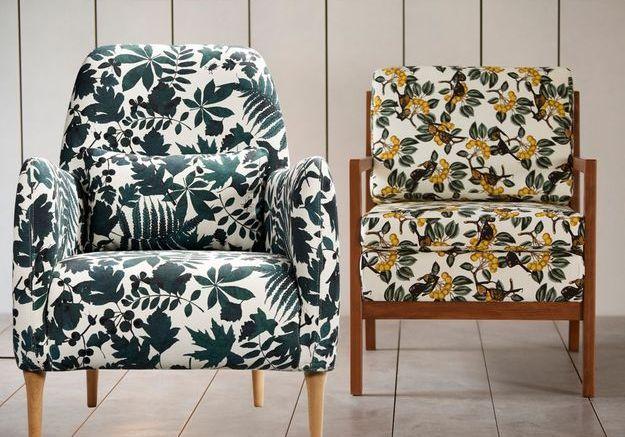 La tendance des fauteuils à imprimés végétaux