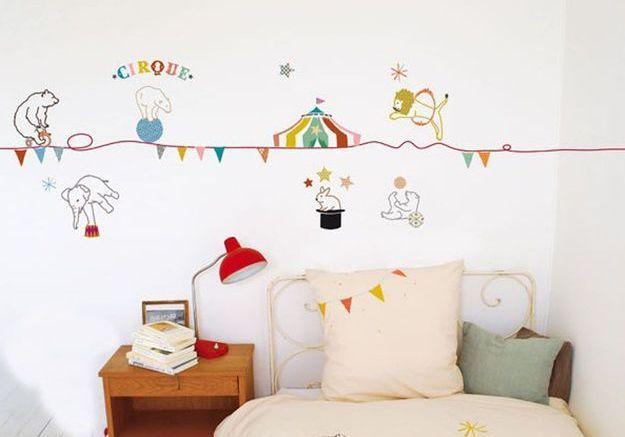 Une chambre d'enfant ambiance cirque