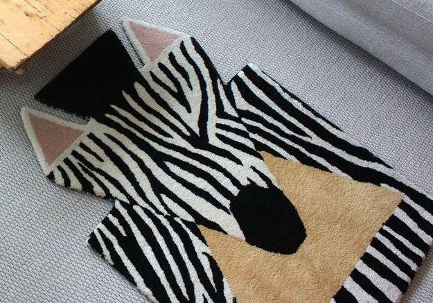 Tapis zebré pour enfant