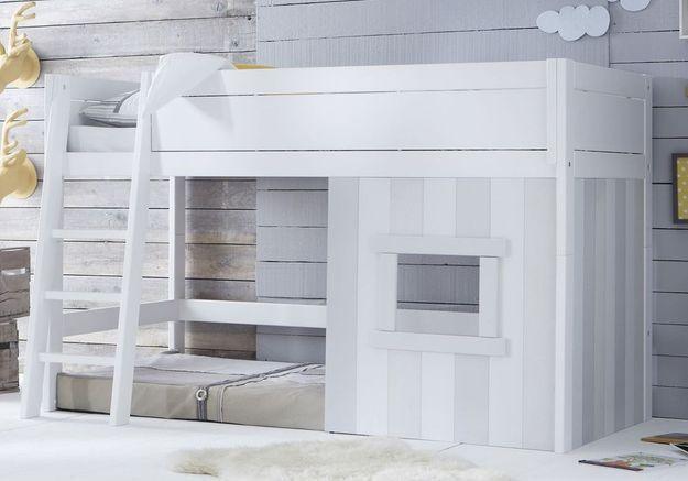 Un lit cabane évolutif (qui se transforme en lit banquette ou en simple lit une place)