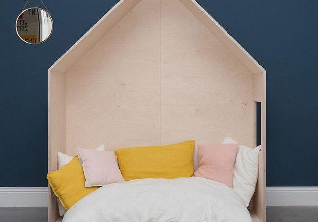 Un lit cabane minimaliste