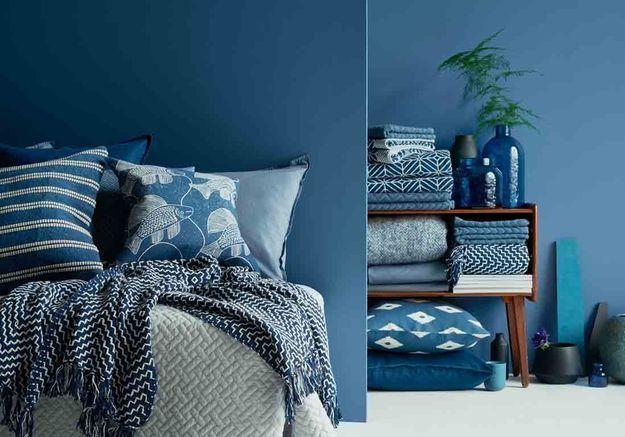Une chambre bleue version total look