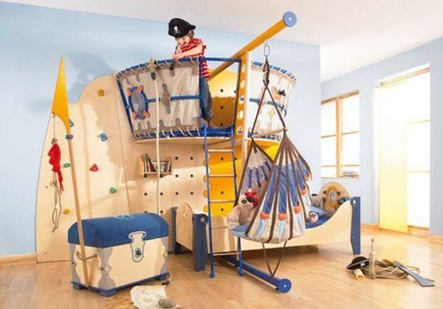Une chambre d'enfants pour les pirates