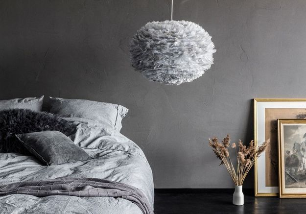 Une chambre grise cocooning