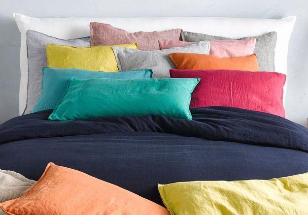 Le linge de lit s'habille de couleurs vives !