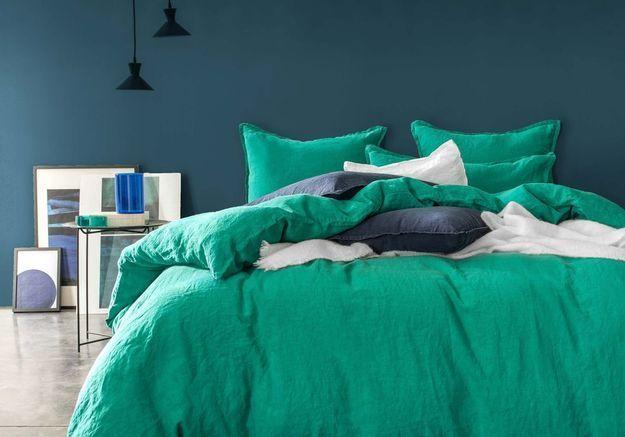 Linge de lit au colori original Blanc Cerise