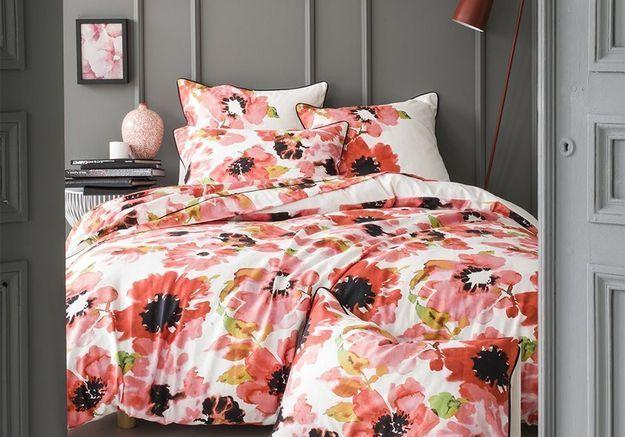Linge de lit fleuri Garnier thiebaut