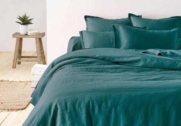 Linge de lit en lin on ne s 39 en lassera jamais elle d coration - La redoute linge de lit en lin ...