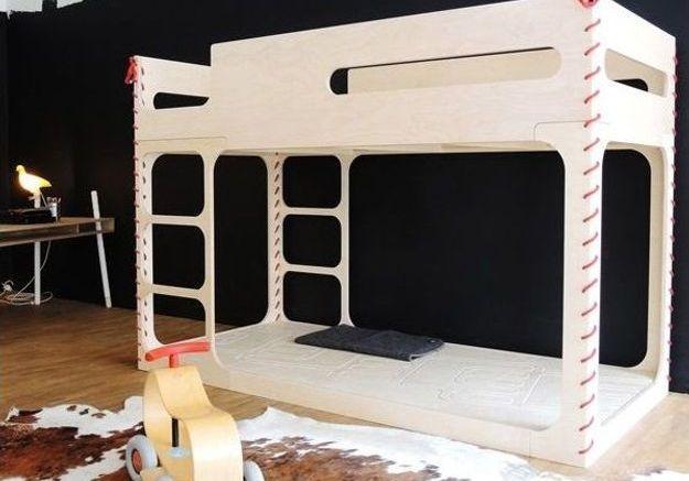 Un lit mezzanine Perludi