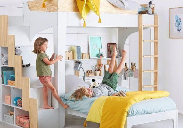 les plus beaux lits mezzanines pour prendre de la hauteur et gagner de la place elle d coration. Black Bedroom Furniture Sets. Home Design Ideas