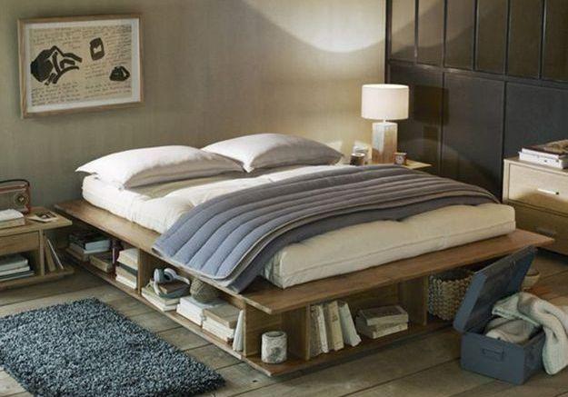 rangement sous le lit elle d coration. Black Bedroom Furniture Sets. Home Design Ideas