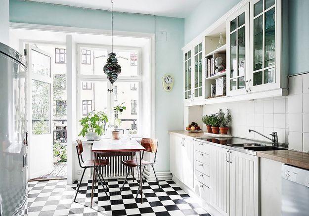 Une belle cuisine au look vintage